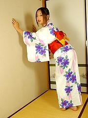 Japanese slut Kasumi gets fucked in her kimono