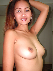 Beautifully breasted Filipina college babe bares all for sex