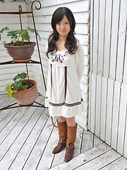 Teeny japanese girl Yume Aikawa in sexy dress