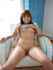 Asisn girl Yurias shaved pussy and small tits