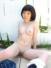 Japanese sweetie Kaori Asou in outdoor pics