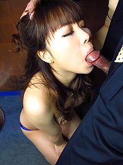 Japanese girl Nishijima Airi gets some cocks and facial cumshot