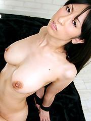 Deepthroat and facial from Tokyo girl Kurita Mami