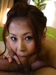 Yuki Aida sucks a big cock and swallows cum