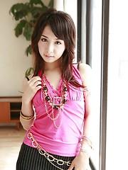 Japanese teen Tomoe Hinatsu in mini skirt