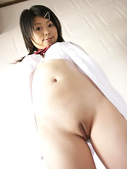Nao Tachibana showing her shaved asian pussy