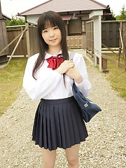 Young japanese girl Mirai Himeno posing outdoor