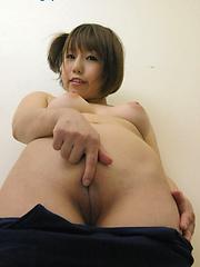 Cute japanese girl in athletic body