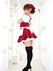 Meiko lovely Asian teen model has lovely firm tits