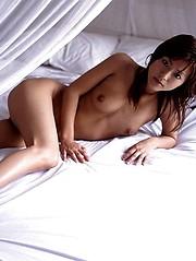 Misako lovely and hot Asian model enjoys modeling nude