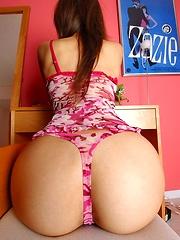 Yua Aida lovely Asian teen model shows her tits