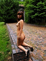 Youzc nude Asian teen shows off her perfect ass