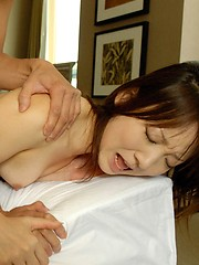Naughty Asian doll gets fucked by her date showing tits