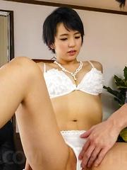 Sakura Aida has hairy slit rubbed, fingered and nailed a lot