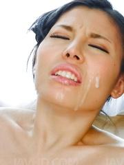 Sofia Takigawa Asian is turned on with vibrators and gets cumshot