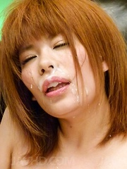 Junna Hara is fucked with vibrators and gets cumshot on face