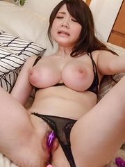 Rie Tachikawa Asian busty screams a lot while is aroused a lot