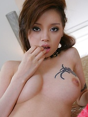 Lina Aishima strips off her black lingerie