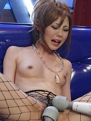 Cute Asian Ryo Odagiri fishnet action with solo show