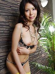 Sexy girl Rino Asuka solo with her big vibrator