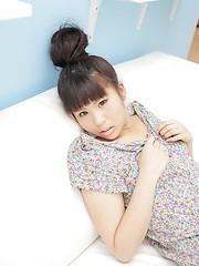 Sexy japanese brunette Nagisa Kano showing small tits
