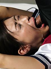 Bounded japanese slut takes it deep