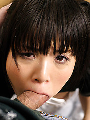 Japanese maid takes it deep from her boss