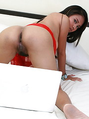 Angel is a busty camgirl making a living by flashing her love orifices on the net