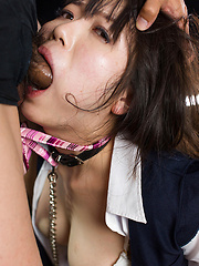 Cute japanese girl takes it deep and rough