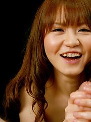 Redhead japanese Sakamoto Hikari handjob