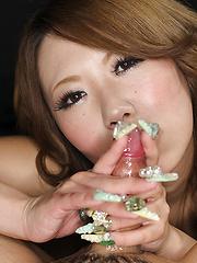 Takaoka Aimi swallows cum