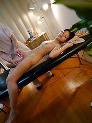 Toys game for oiled japanese girl