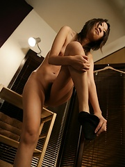 Japanese masseur playing with woman