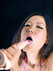 Yui Komine rides sex toy