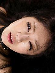 Japanese teen Mizuki takes cock deep and swallows cum