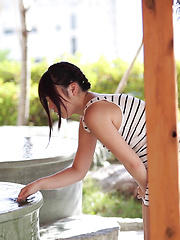 Taking a countryside Japanese girl on an tropical island vacation might be the fastest way to get her panties off