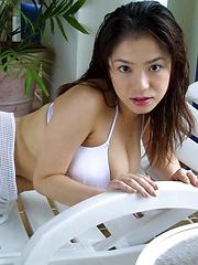 Famous av idol Anna Ohura posing her natural tits