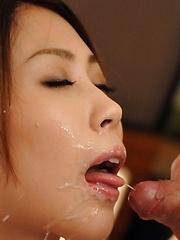 Japanese girl Rinka Kase gets two hard cocks