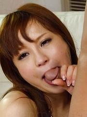 Maomi Nagasawa has playful tits sucked and vagina fucked a lot