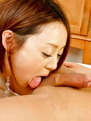 Rina Yuuki Asian with hot bum has twat fingered and well nailed