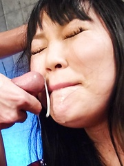 Nene Masaki Asian in handcuffs is fucked with vibrator in pussy