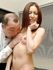 Nozomi Mashiro Asian has nipples sucked and nooky fingered
