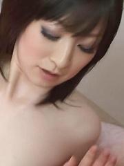 Asuka Mimi Asian exposes juicy titties and sucks two hard shlongs
