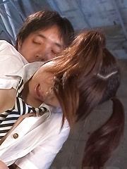Hinata Tachibana Asian gets cum on face after is aroused big time
