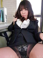 Chinatsu Kurusu Asian is busy with four cocks and dildos in twat