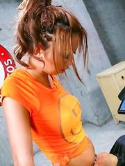 Hina Maeda Asian is turned on with vibrator on slit and big tits
