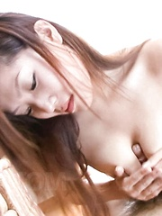 Kaede Ichijou Asian is fondled all over and rubs dicks with tits