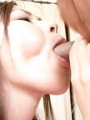 Chie Inamori Asian takes cock in mouth and rides it like whore