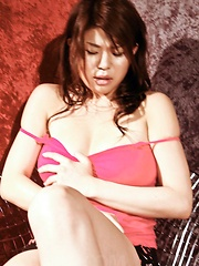 Ruri Kouda Asian horny fondles big cans and uses dildo in nooky
