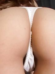Yuna Hirose Asian with oiled boobs sucks dick and rubs clitoris